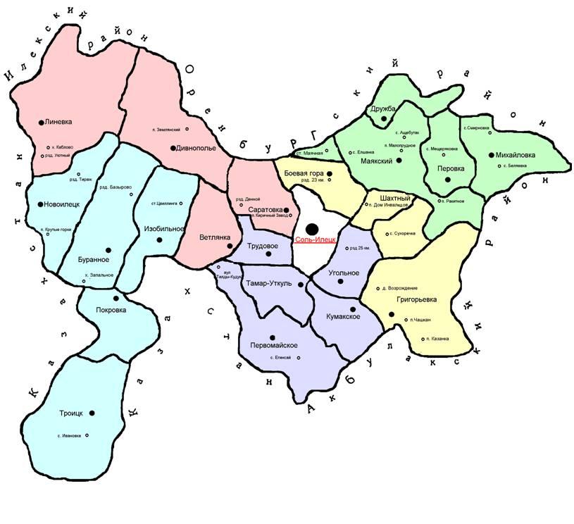 Схемы избирательных округов по